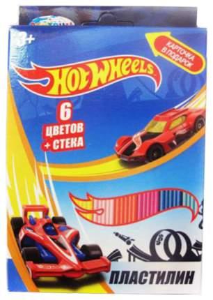 Пластилин CENTRUM Hot Wheels 6 цветов, 120 гр со стеком