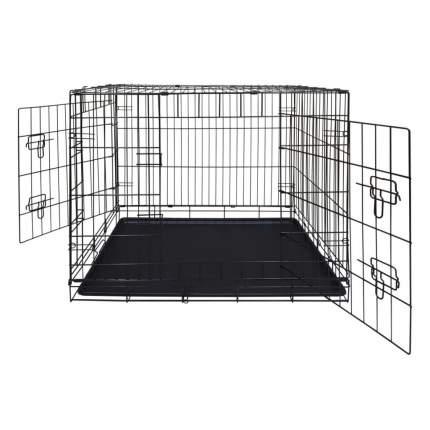 Клетка для собак Dog Land двудверная с поддоном, № 3, 76х51х59 см