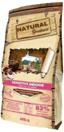 Сухой корм для кошек Natural Greatness Sensitive Indoor,для домашних,гипоаллергенный,0,6кг