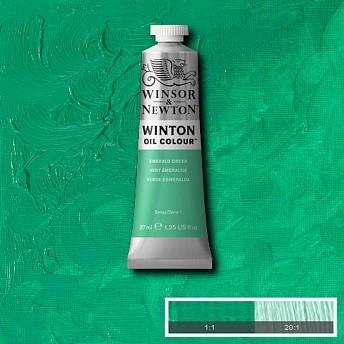 Масляная краска Winsor&Newton Winton зеленый изумруд 37 мл