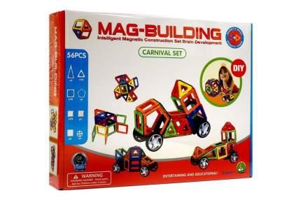 Магнитный конструктор Mag-Building 56 деталей и колеса
