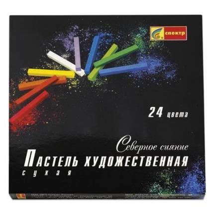 Пастель сухая художественная СПЕКТР Северное сияние, 24 цвета, квадратное сечение, 06С-406