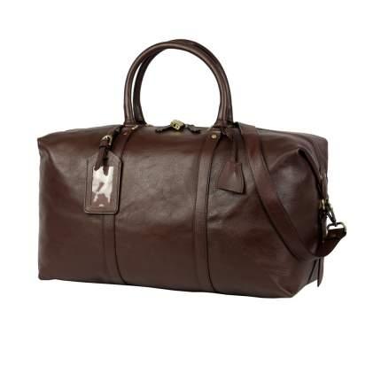 Дорожная сумка кожаная Bufalo BBJ-01B коричневая 50 x 25 x 28