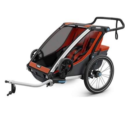 Мультиспортивная коляска Thule Chariot Cross для 2 детей, Roarange/Dark Shadow