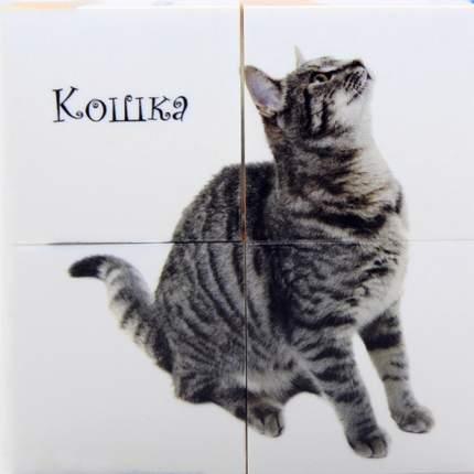 Кубики с картинками Десятое королевство Домашние животные 4 шт.