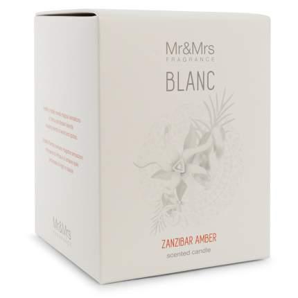 Свеча ароматическая Mr&Mrs Fragrance Blanc аромат №31 Амбра Занзибара