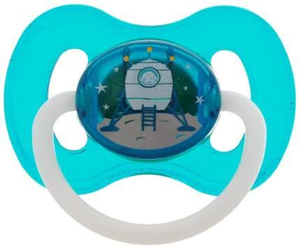 Пустышка круглая Canpol Space латекс 0-6 мес. арт. 23/221 цвет бирюзовый