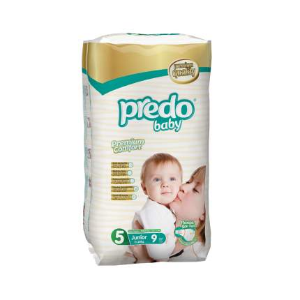 Подгузники Predo Baby Стандартная пачка (9 шт.) № 5 (11-25 кг.) джуниор