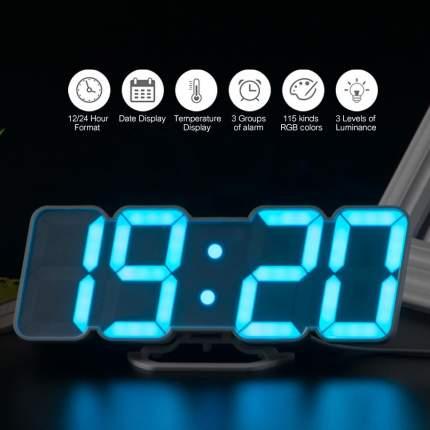 Электронные многоцветные RGB часы li&tai SLT-9001 (white)