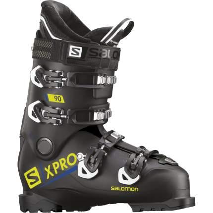 Горнолыжные ботинки Salomon X Pro 90 2019, black/acid green, 26.5