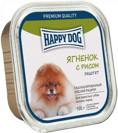 Консервы для собак Happy Dog, для мелких пород, паштет, ягненок с рисом, 100г