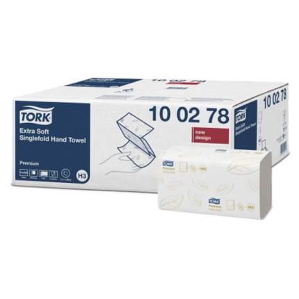 Полотенца Tork Premium ZZ сложение ультрамягкие 2 слоя белые 23*23 см 200 листов
