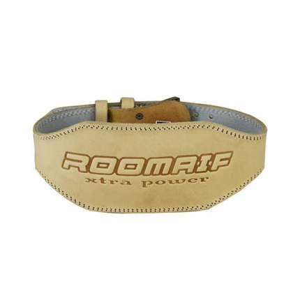 Пояс для тяжелой атлетики Roomaif RWG-131 бежевый, XXL