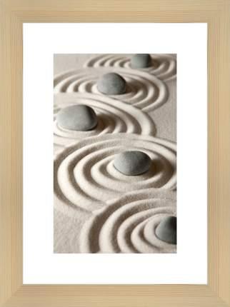 """Картина в багете 30х40 см """"Камни на песке"""" Ekoramka BE-103-205"""