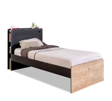 Кровать Cilek Black 100х200 см, бежевый/черный