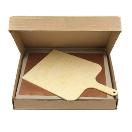 Пекарский камень (лопатка + коврик для выпечки) 32х38х2 см