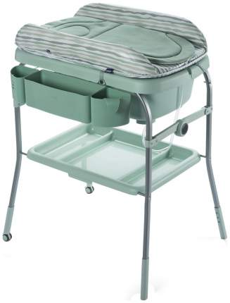 Пеленальный столик с ванночкой Chicco Cuddle & Bubble Comfort Silver Eucalyptus