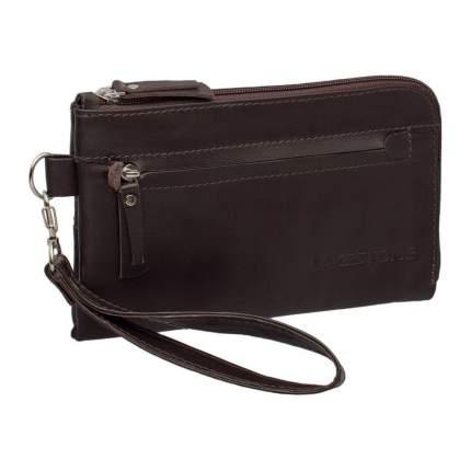Клатч мужской кожаный Lakestone Hampton коричневый