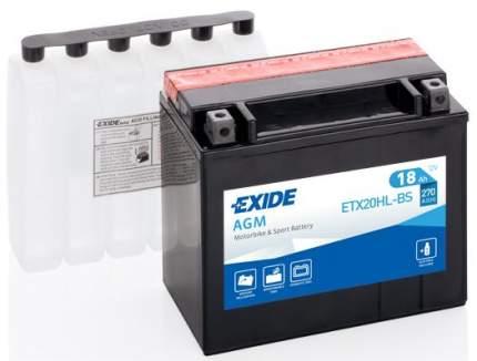 Аккумулятор автомобильный EXIDE ETX20HL-BS 18 Ач