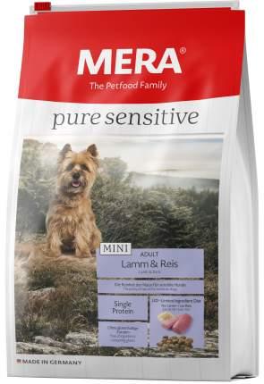 Сухой корм для собак MERA Pure Sensitive Mini Adult, для мелких пород, ягненок и рис, 1кг