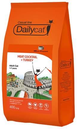 Сухой корм для кошек Dailycat Casual Line, мясной коктейль с индейкой, 0,4кг