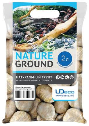 Грунт для аквариума UDeco Stream Light 30-50 мм 2 л