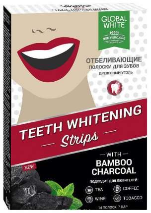 Пластина для отбеливания зубов Global white Древесный уголь