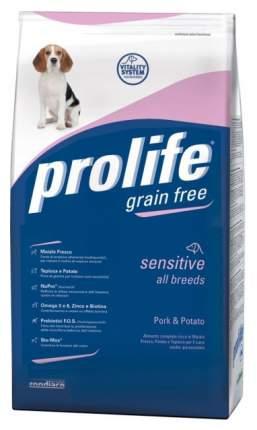 Сухой корм для собак Prolife Sensitive All Breeds Pork & Potato, картофель, свинина, 12кг