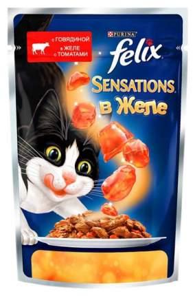 Влажный корм для кошек Felix Sensation, говядина, 24шт, 85г
