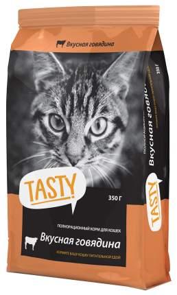 Сухой корм для кошек TASTY, говядина, 0,35кг