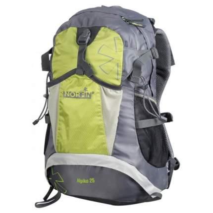 Туристический рюкзак Norfin Alpika NF 25 л серый/зеленый