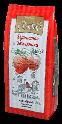 Чай Bonton душистая земляника черный крупнолистовой 200 г