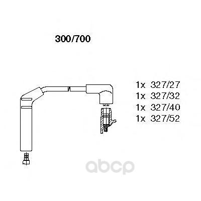 Провод высоковольтный hyndai accent 94-00 BREMI 300/700
