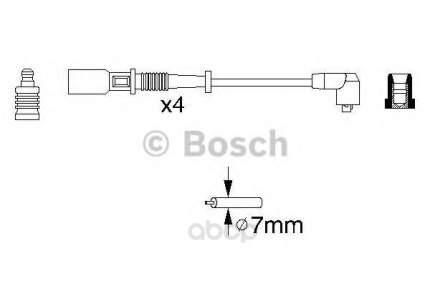 Провода высоковольтные комплект Bosch 0986356754