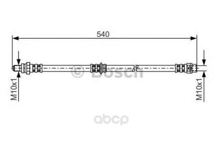 Шланг тормозной системы Bosch 1987481053 задний