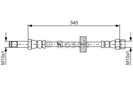 Шланг тормозной системы Bosch 1 987 481 816