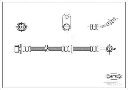 Шланг тормозной CORTECO 19032732