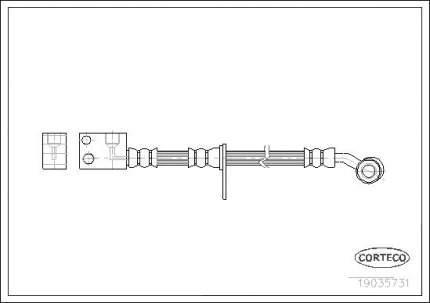 Шланг тормозной системы CORTECO 19035731