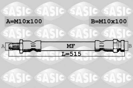 Шланг тормозной SASIC 6606225
