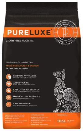 Сухой корм для кошек и котят PureLuxe, для длинношерстных, индейка, 1,5кг