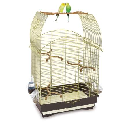 Клетка IMAC Agata для птиц (Д 58 х Ш 33 х В 62,5 см, Коричневый/золотой)