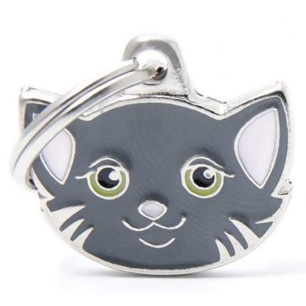 Адресник для кошек My Family Friends Кошка (2,5 х 2,5 см, Серый)