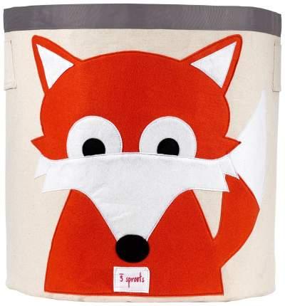 Корзина для хранения игрушек 3 Sprouts Orange Fox