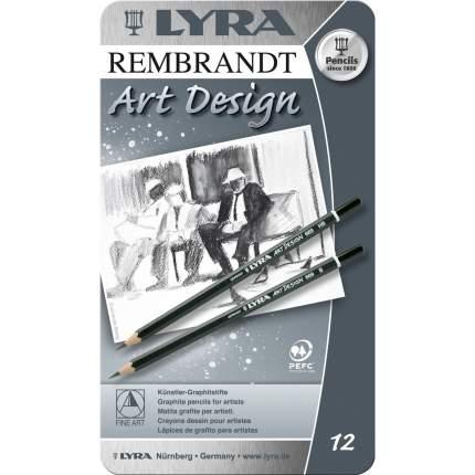 Lyra Профессиональные чернографитные карандаши для рисования и черчения
