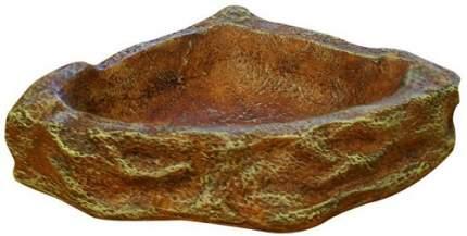 Кормушка Reptile One Corner Dish угловая, светло-коричневая, 9,5 х 9 х 3,5 см