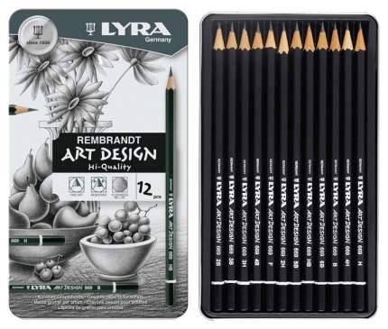 Карандаши чернографитные Lyra Rebbrant Art Design L1110115