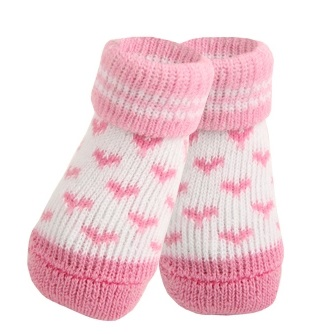 Носочки для собак Puppia ANGEL HEART розовые сердечки, размер S