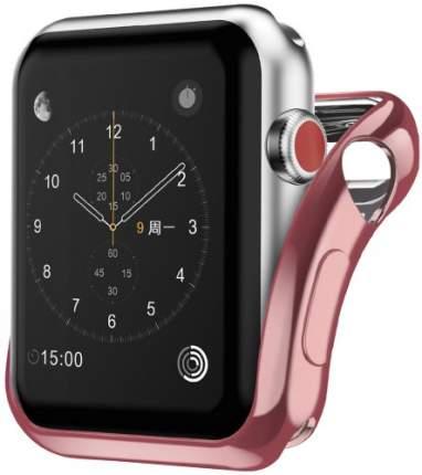 Чехол InterStep для Apple Watch 44mm Pink (HWE-AWC44MSL-NP0005O-K100)