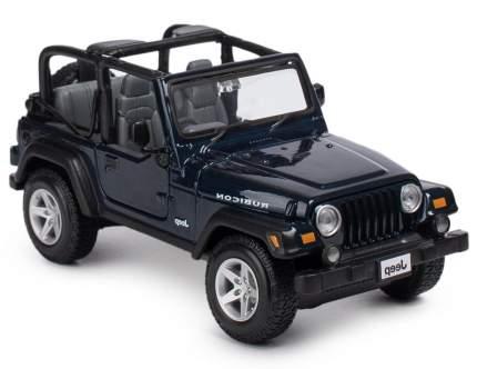 Машинка Maisto темно-синяя - Jeep Wrangler Rubicon 1:24