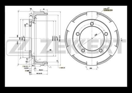 Тормозной барабан ZEKKERT BS-5514
